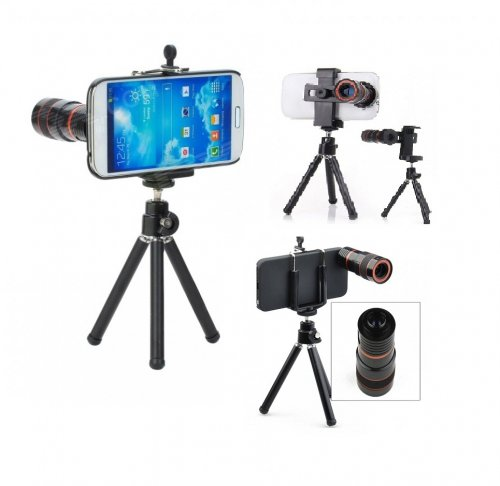 8X Zoom Telescope Lens With Metal Tripod
