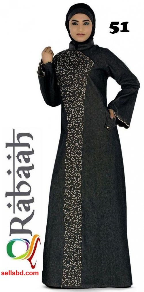 Fashionable muslim dress islamic clothing Rabaah Abaya Burka borka 51