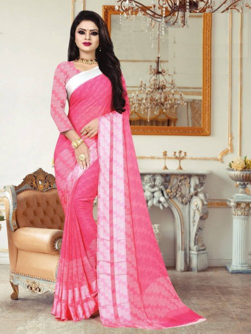 Indian Soft Georgette Saree se-179