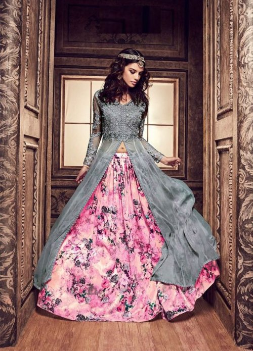 Unstiched Three Piece GRAUN 205AB soft georgette salwar kameez