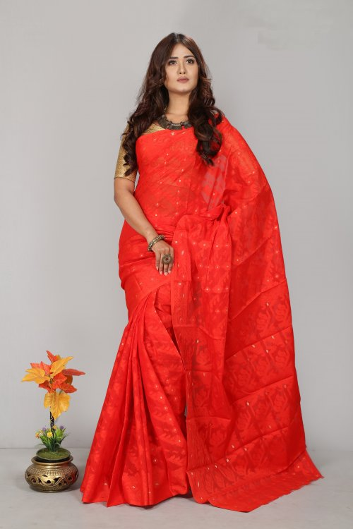 Jamdani Silk Saree for Woman