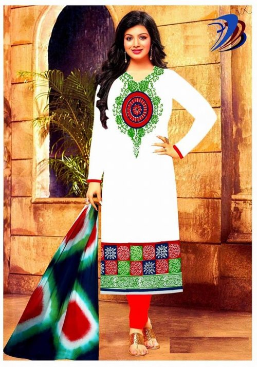unstitched block printed cotton replica salwar kameez seblock-603