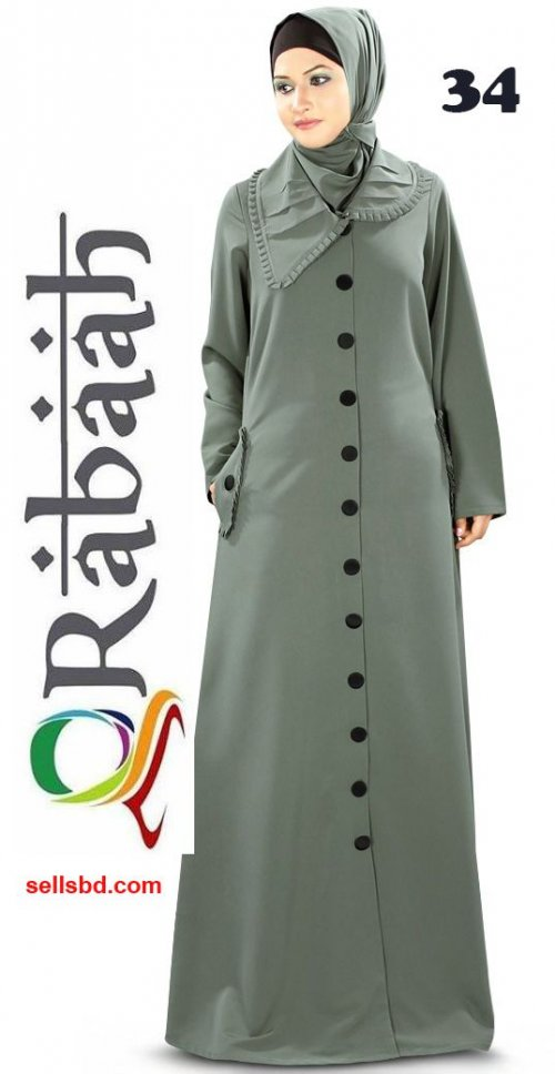 Fashionable muslim dress islamic clothing Rabaah Abaya Burka borka 34