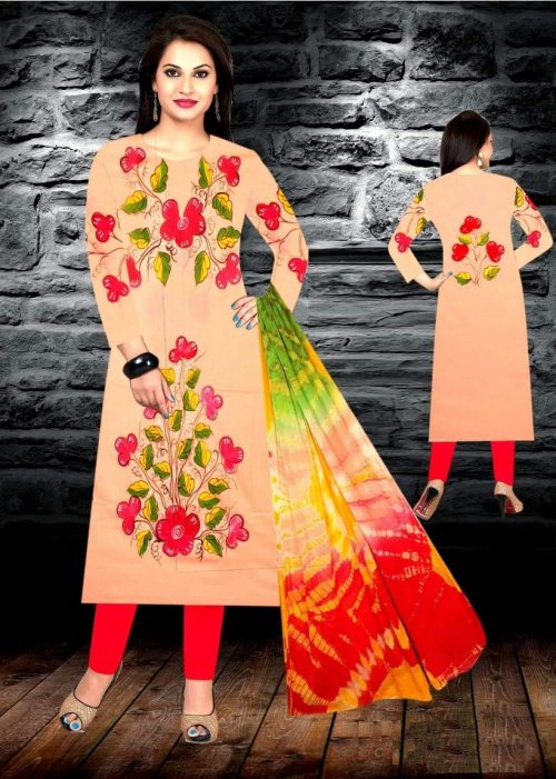 Unstiched brush printed cotton replica salwar kameez seblock-622