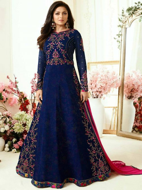 Lt Nitya Vol 110 Georgette Anarkali Suit Lt Nitya Vol-110