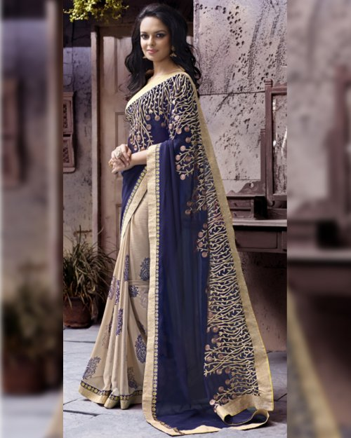 Weight Less Georgette saree SS-233