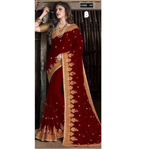Weight Less Georgette saree Hp-107_B