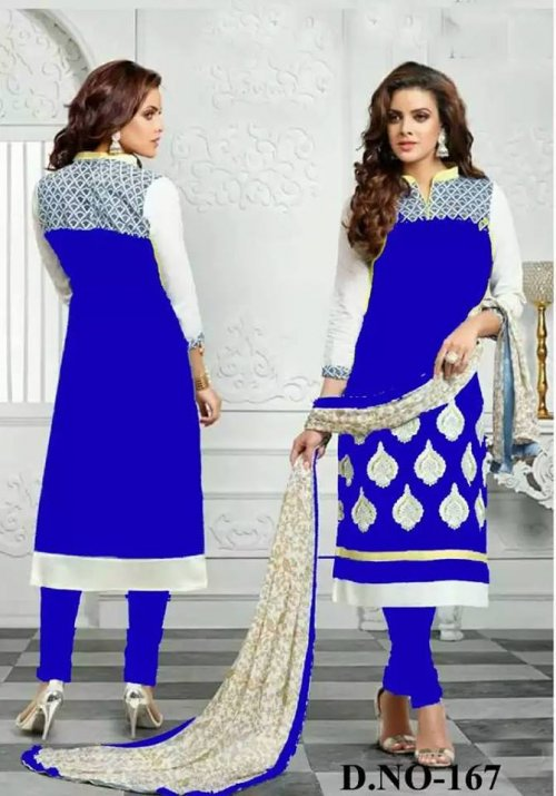 unstiched block printed cotton replica three pcs salwar kameez seblock-417