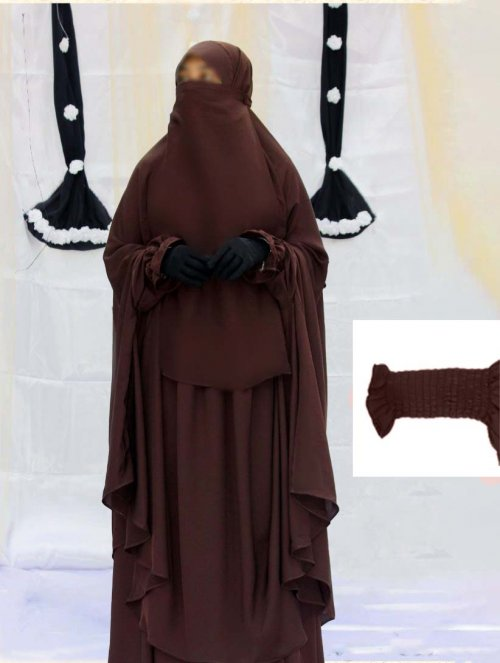 Khimar adjusted niqab with skirt borkha full set for women pv-10