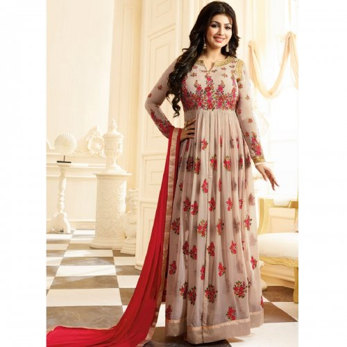 Ayesha Takia Anarkali Suits in Light Rosy Brown GS-17007