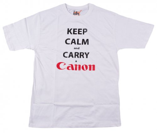 KEEP CALM AND CARRY A CANON [WHI