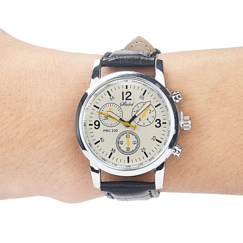 Blue-ray Glass Neutral Quartz Simulates Wrist Epidermal Leather Strap Watch