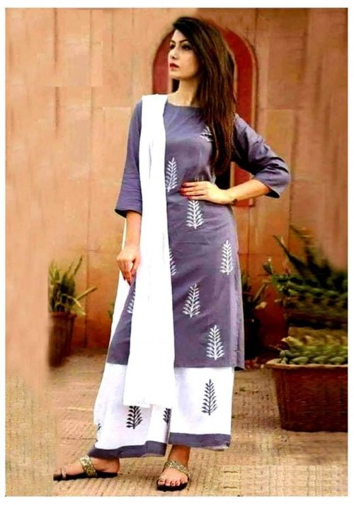 unstiched rajdhani voyal block printed cotton salwar kameez seblock-906