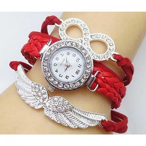 Fashionable Red Color Bird wings Watch