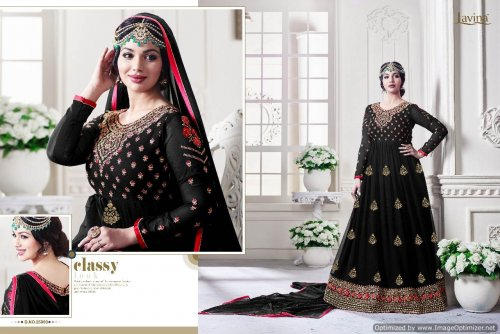 GEORGETTE WITH EMBROIDERY WORK FLOOR LENGTH ANARKALI SALWAR SUIT ayesha 018