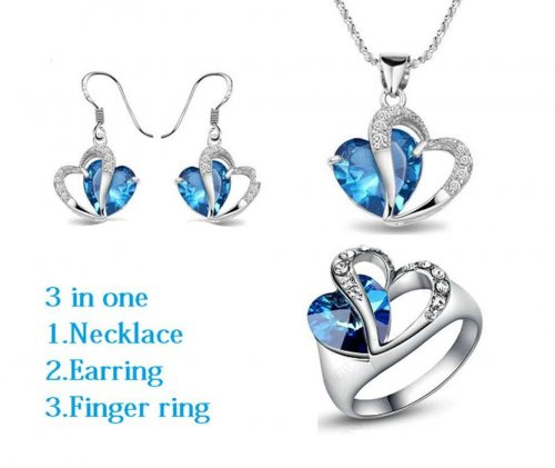 Heart Shape Jewelry Set