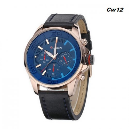 Curren Luxury Leather Strap Military Watche