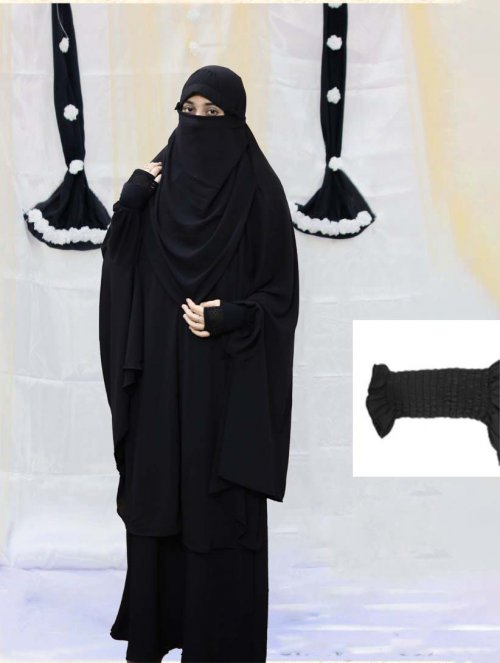 Khimar adjusted niqab with skirt borkha full set for women pv-8
