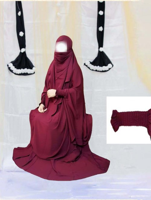 Khimar adjusted niqab with skirt borkha full set for women pv-9