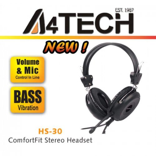 Comfort Fit Stereo Headset A4 Tech HS-30