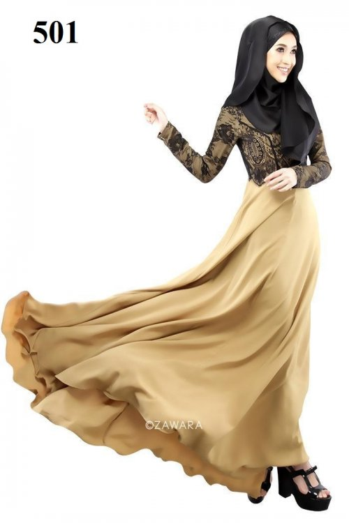 Fashionable muslim dress islamic clothing Rabaah Abaya Burka borka 501