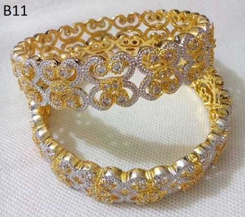 Gold Plated jewelry ornaments Diamond Cut Bangles B-11
