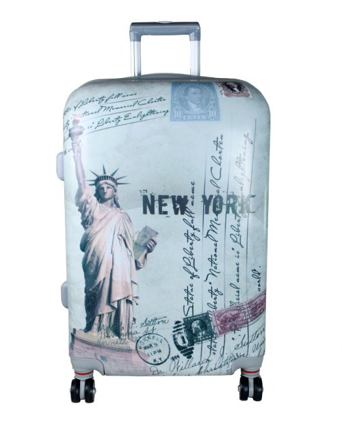 ROLLING SPINNER WHEELS SCRAWL TROLLEY SUITCASE LUGGAGE 3