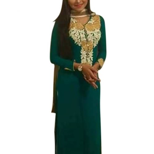 Ladies Dress Green Georgette Salwar Kameez