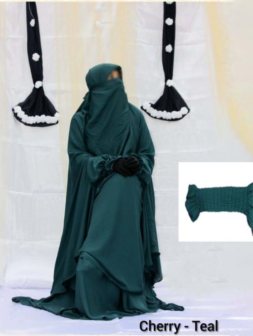 Khimar adjusted niqab with skirt borkha full set for women pv-4