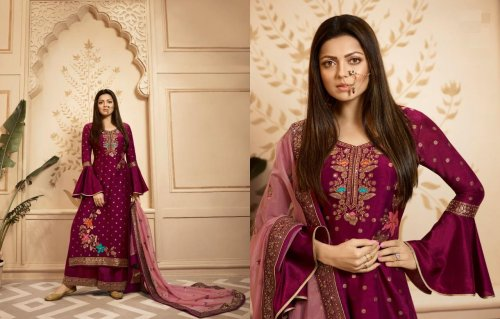 Georgette Embroidery Salwer Kameez Suit For Women