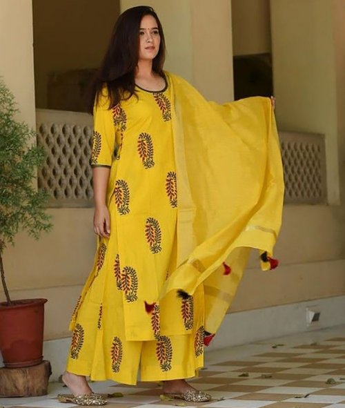 unstiched rajdhani voyal block printed cotton salwar kameez seblock-704