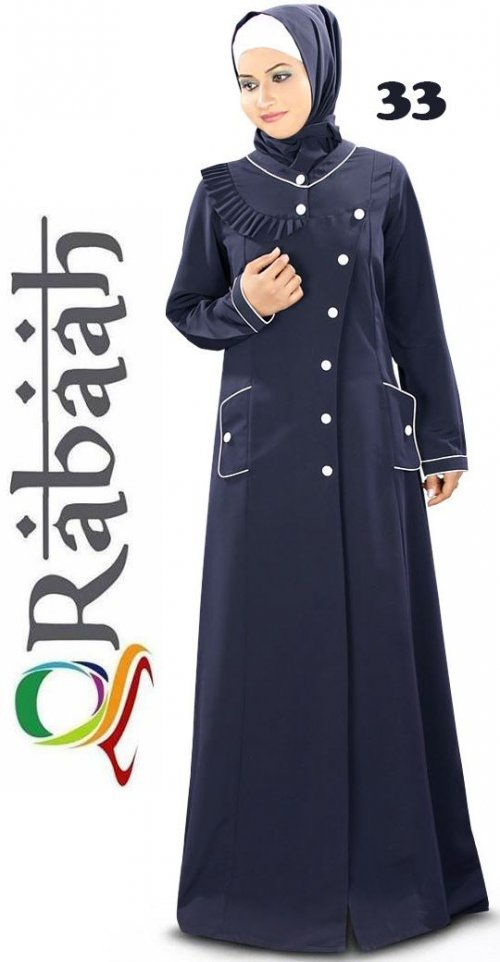 Fashionable muslim dress islamic clothing Rabaah Abaya Burka borka 33