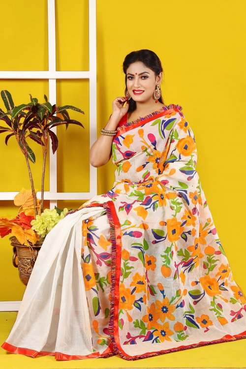 Cotton Butics Saree for Woman