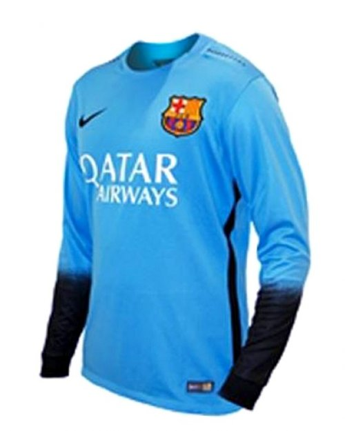 Barcelona 3rd Long Sleeve Jersey - Sky Blue