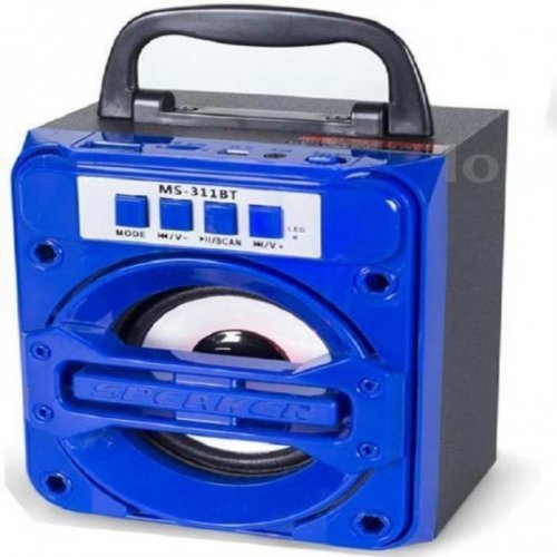 MS-311 Portable Wireless BT Mobile Multimedia Speaker Music Player - Blue