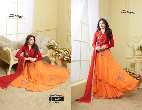 Unstiched Three Piece2642 soft georgette salwar kameez