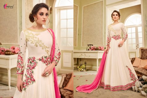 Kesari Trendz un-stitched georgete embroidery anarkali suit