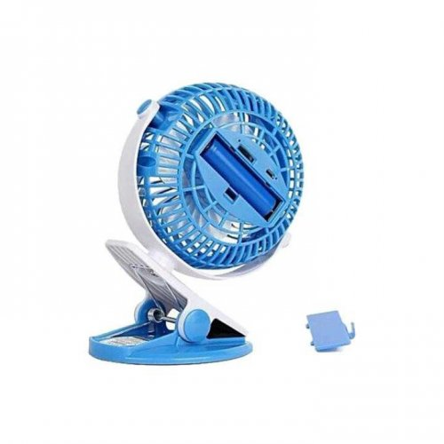 Rechargeable Small Clip Fan - Blue