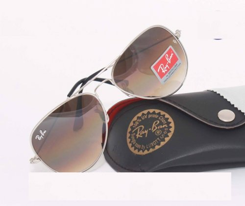 Ray Ban Gents Shades Silver Sunglass Replica SW4051