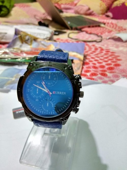 curren mens blue wrist watch marter copy