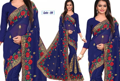Weight Less Georgette saree Hp-99