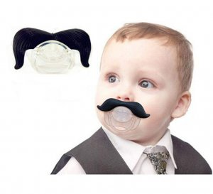 Baby Mustache Pacifier Soother