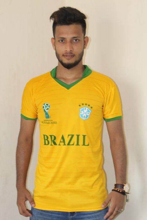 world cup 2018 brazil half sleeve jersey (1) copy
