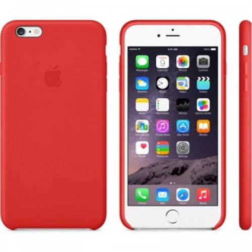 Original iPhone 6 or 6 Plus Leather Case - (PRODUCT)RED