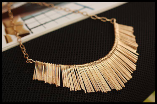 Necklace - Golden , Silver D 210