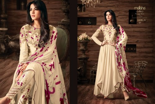 un-stitched georgette with embroidery salwar kameez maisha-4808 A