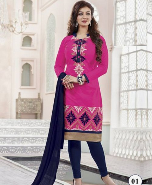 Unstitched Cotton Block Printed Salowar Kameez seblock-320