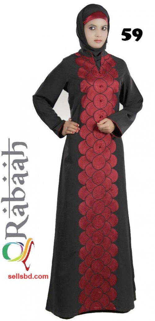 Fashionable muslim dress islamic clothing Rabaah Abaya Burka borka 59