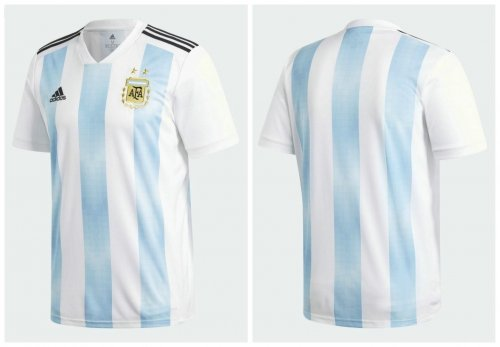 world cup 2018 argentina half sleeve jersey