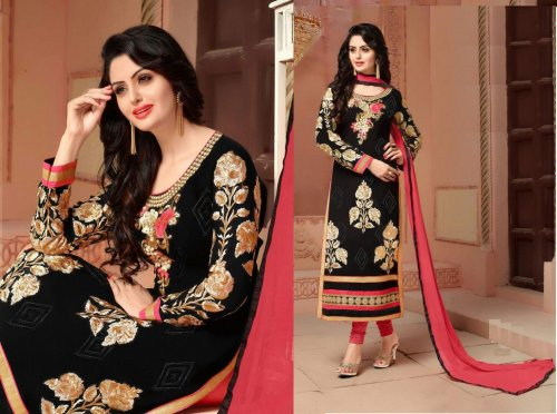 block printed salwar kameez three pcs seblock-309